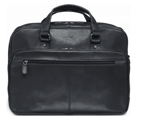 Mancini Expandable Double Compartment Briefcase