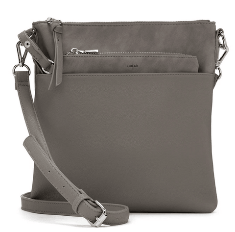 Co-Lab Suede Flat Crossbody