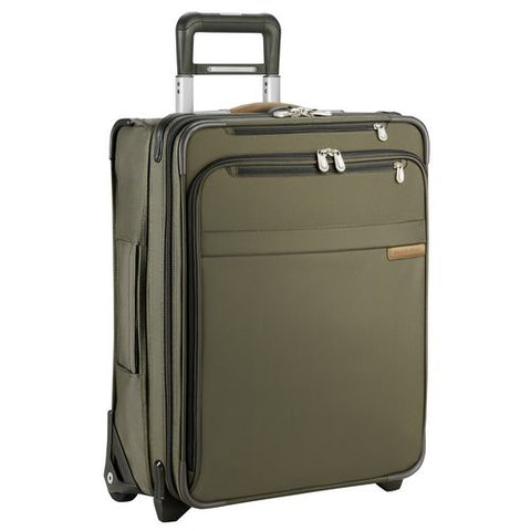 Briggs & Riley Baseline International Carry-On Wide Body Upright Olive Green