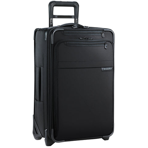 "Briggs & Riley Baseline 22"" Domestic Carry-On Expandable Upright Luggage Black"