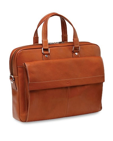 "Mancini Colombian Leather 17"" Laptop Briefcase"