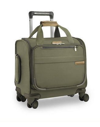Briggs & Riley Baseline Cabin Spinner Carry On Olive Green