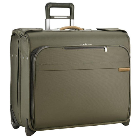 Briggs and Riley Baseline Deluxe Wheeled Garment Bag Business Travel Olive