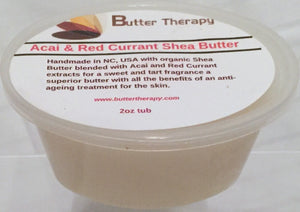 Acai & Red Currant Shea Butter Blend 2oz Tub - Buttertherapy.com