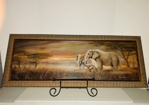 Elephant Family Landscape (Wall Decor) - Buttertherapy.com