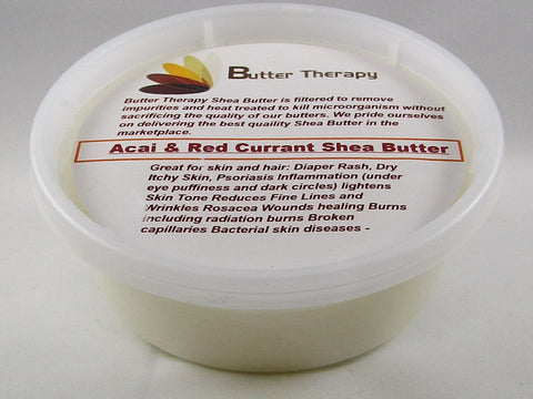 Acai & Red Currant Shea Butter 8oz Tub - Buttertherapy.com