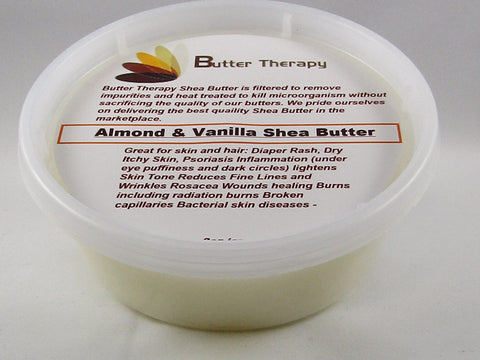 Almond & Vanilla Shea Butter 8oz Tub - Buttertherapy.com