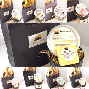 Holiday Gift Set 8 oz Shea Butter and Soap Set - Buttertherapy.com