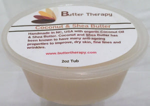 Coconut Oil Shea Butter Blend 2oz tub - Buttertherapy.com