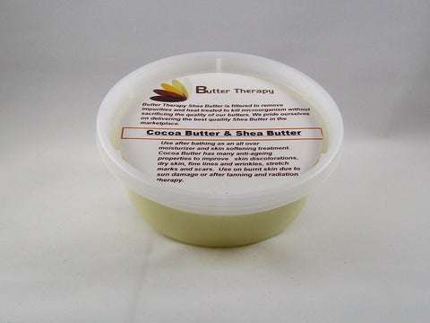Cocoa Butter & Shea Butter 8oz tub - Buttertherapy.com