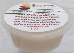 Cucumber & Mint Shea Butter Blend 2oz Tub - Buttertherapy.com