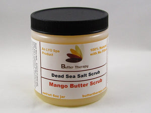 Dead Sea Salt Scrub Mango 8oz Jar - Buttertherapy.com
