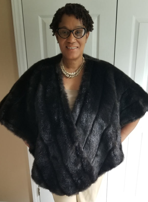 Faux Mink Shawl Coat - Buttertherapy.com