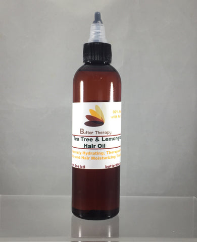 Tea Tree & Lemongrass Hair Oil 4oz Btl - Buttertherapy.com