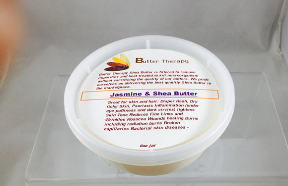 Jasmine Shea Butter 8oz Tub - Buttertherapy.com