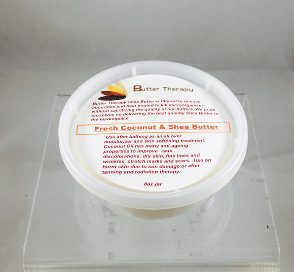 Fresh Coconut & Shea Butter Blend 8oz Tub - Buttertherapy.com