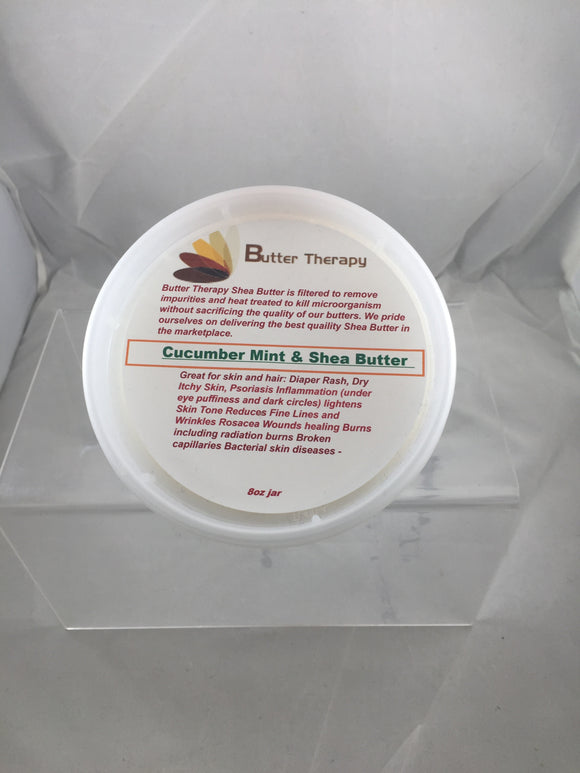 Cucumber & Mint Shea Butter Blend 8oz Tub - Buttertherapy.com