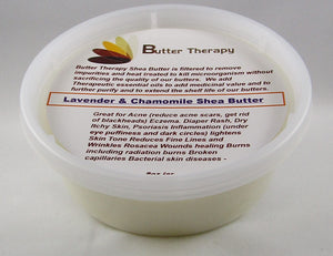 Lavender & Chamomile Shea Butter Blend 8oz Tub - Buttertherapy.com