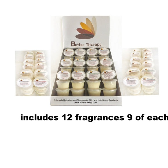 Wholesale Starter kit plus 2 refills Travel sized 108/ 2oz Shea Butters Tubs - Buttertherapy.com