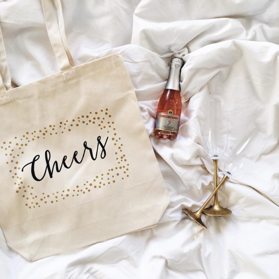 Champagne Tote Bags: Unique Gifts - Wedding Bags