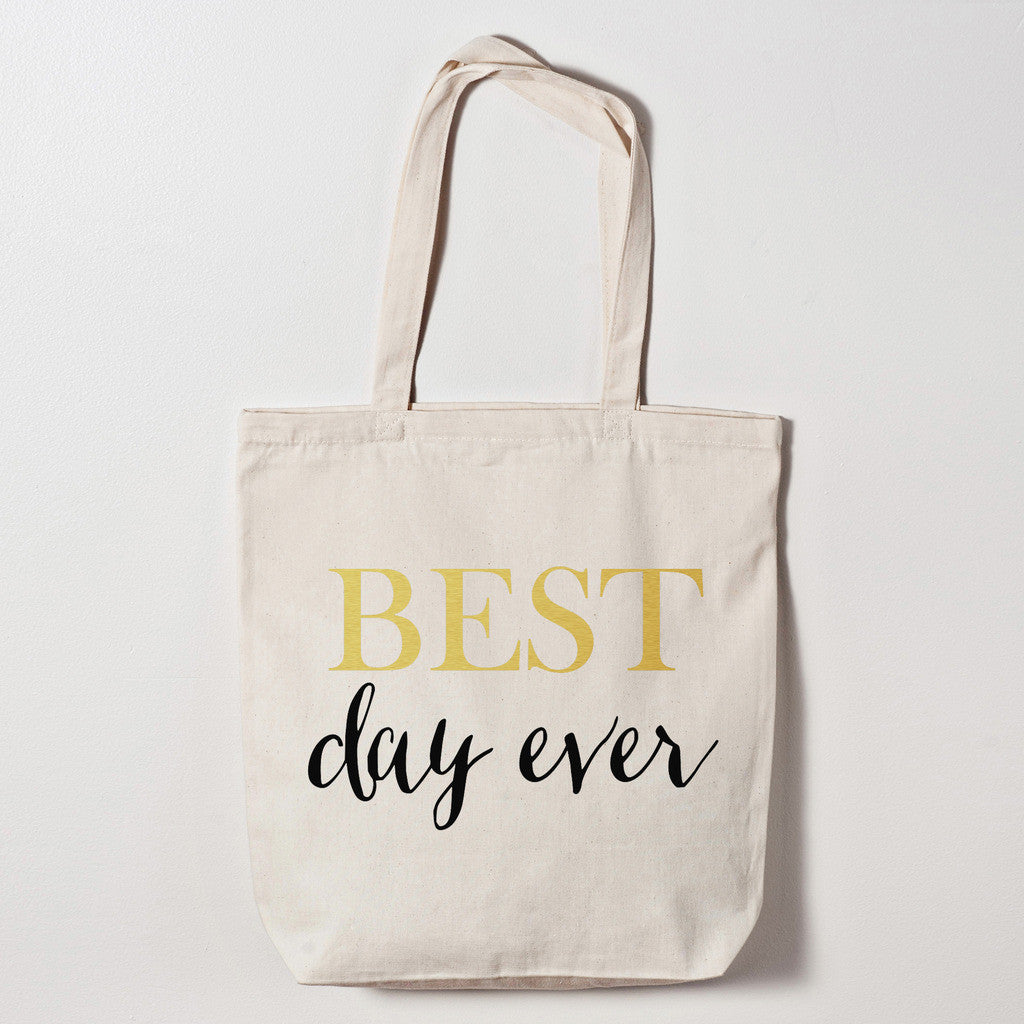 best day ever tote bag wedding bags