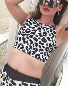 Leopard swimsuit - top