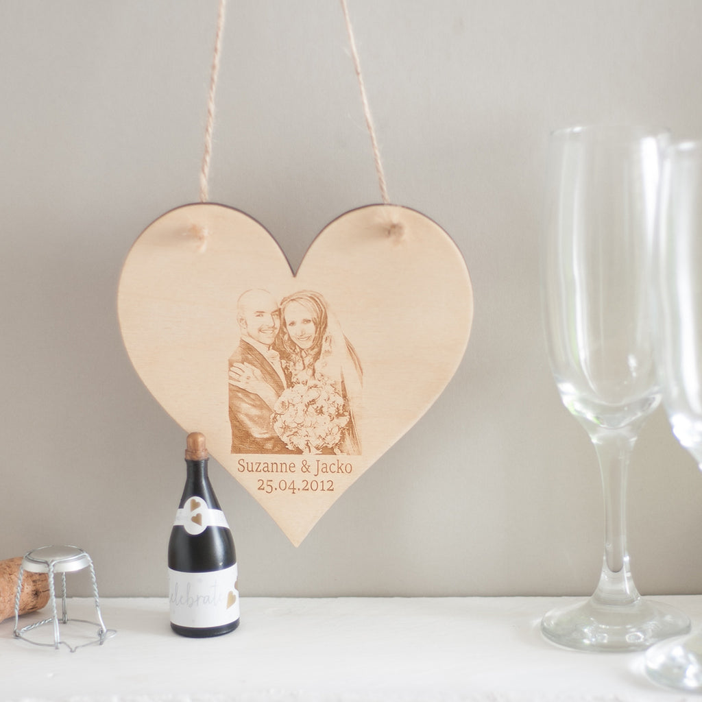 Bespoke 5th Wedding Anniversary Plaque (the year of wood)