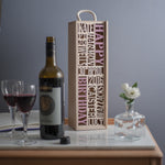 Bespoke Celebratory Bottle Box (add your own 10 words)