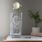 Personalised Glass Vase (add your own image and message)