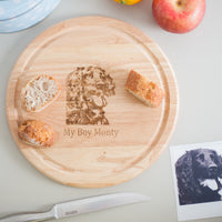 Personalised Bread/Cheese Board with Photo