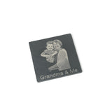 Bespoke SLATE Coasters with your own photo engraved