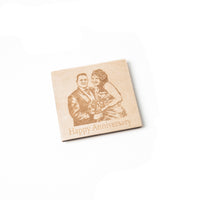 Bespoke Wooden Coasters with your own photo engraved