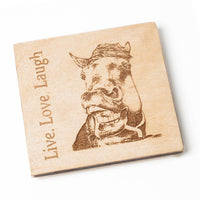 Equine wooden coasters - personalised