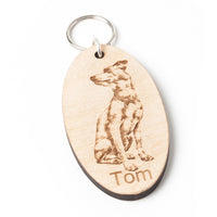 Wooden Keyring with your own photo engraved