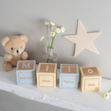 Personalised Blocks with Initial & Message (No Photo Included)