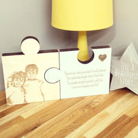 Personalised wooden jigsaw pieces