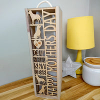 Labrador themed Bottle Box (add your own 7 words)