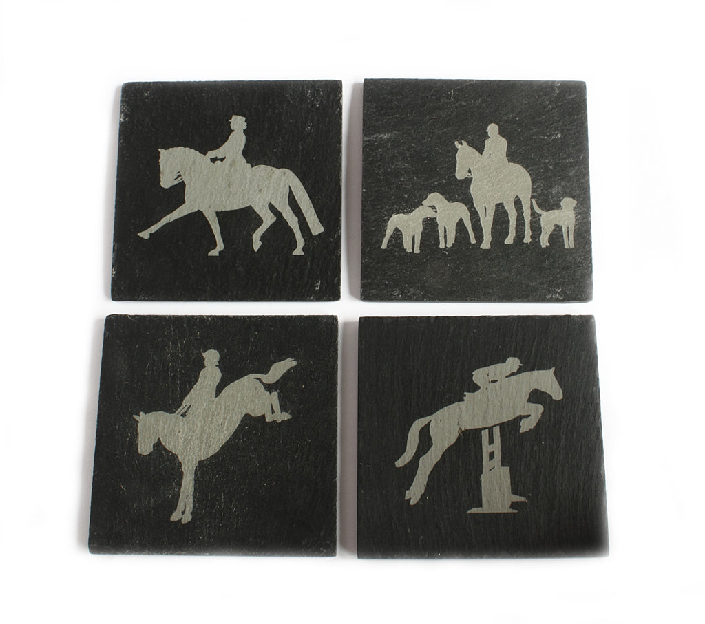 Equine Slate Coasters Set of 4