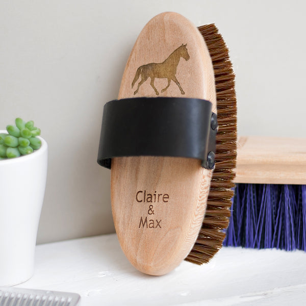 Personalised Grooming Set - (body brush, dandy brush + hoof pick)