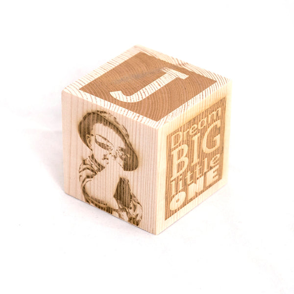 Personalised wooden children blocks for the nursery. Nursery decor. Photo engraved.