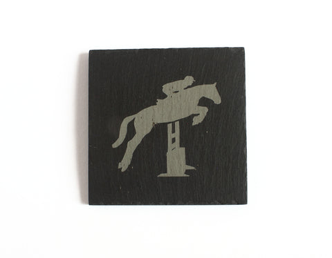 Show Jumping Slate Coaster