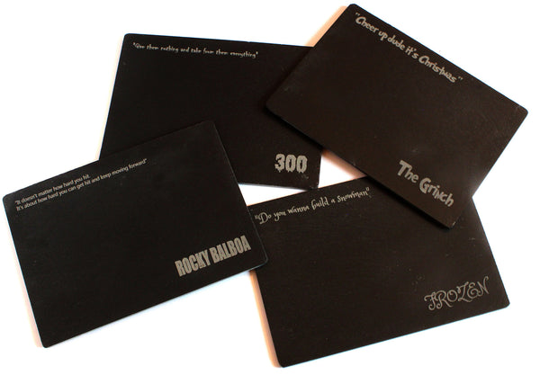 Personalised Slate Placemats - each with different design