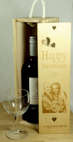 Valentine's Day Bottle Gift Box (add your own image and message)
