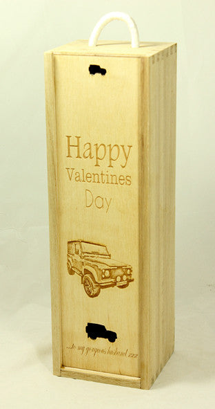 Valentine's Day Wine Bottle Gift Box (add your own image and message)