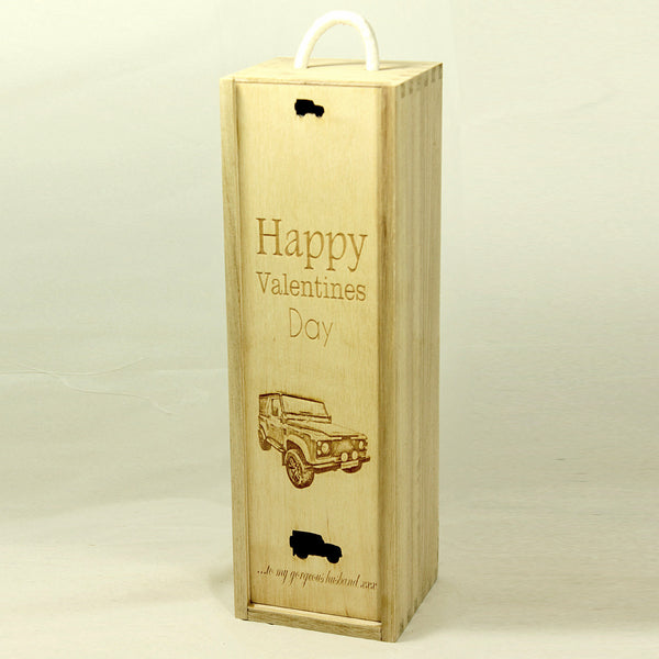 Personalised Wine Bottle Gift Box (add your own image and message)