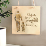Father's Day Wooden Plaque with your photo engraved