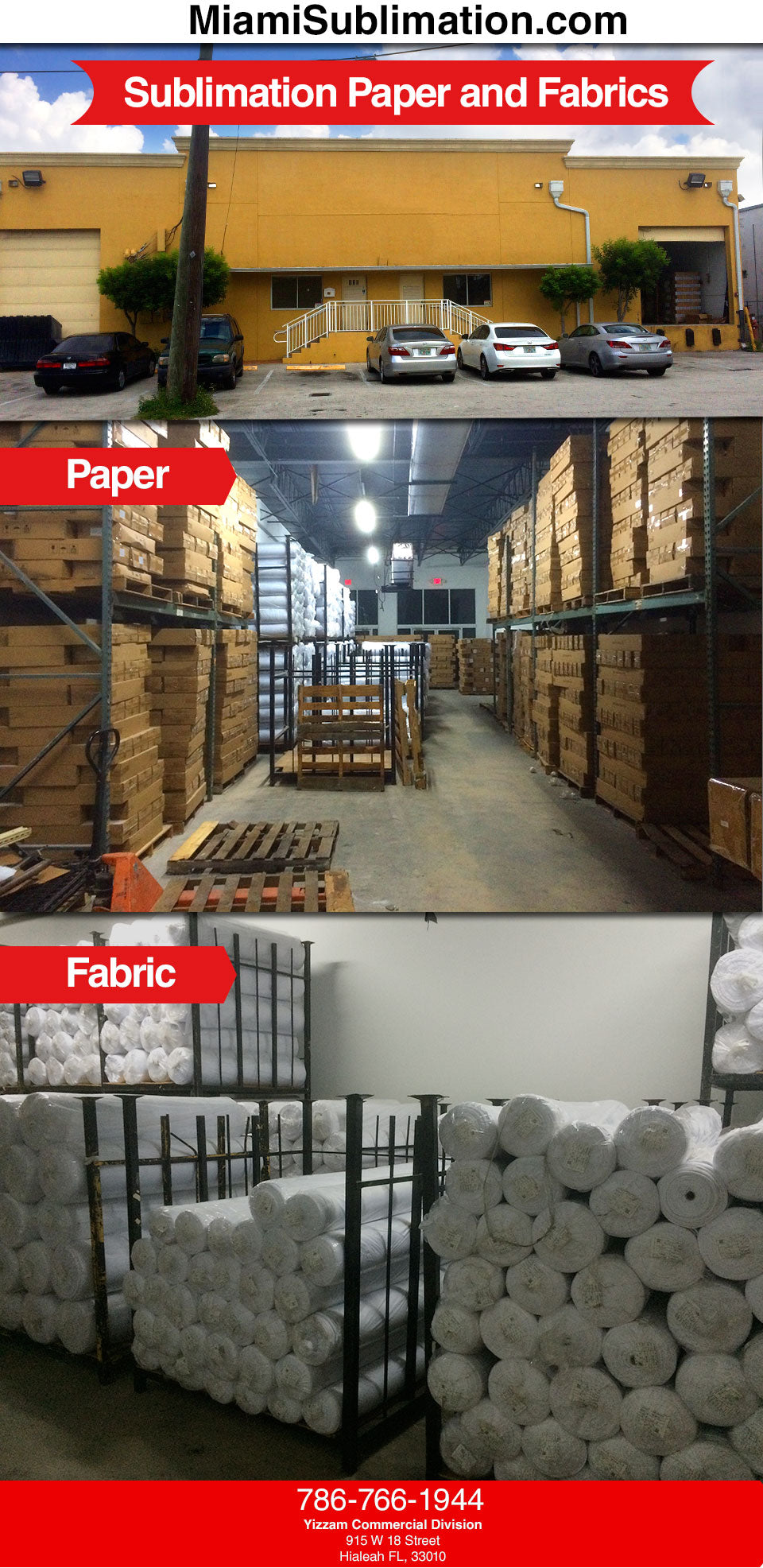 MiamiSublimation com : Sublimation Paper and Fabric Sales