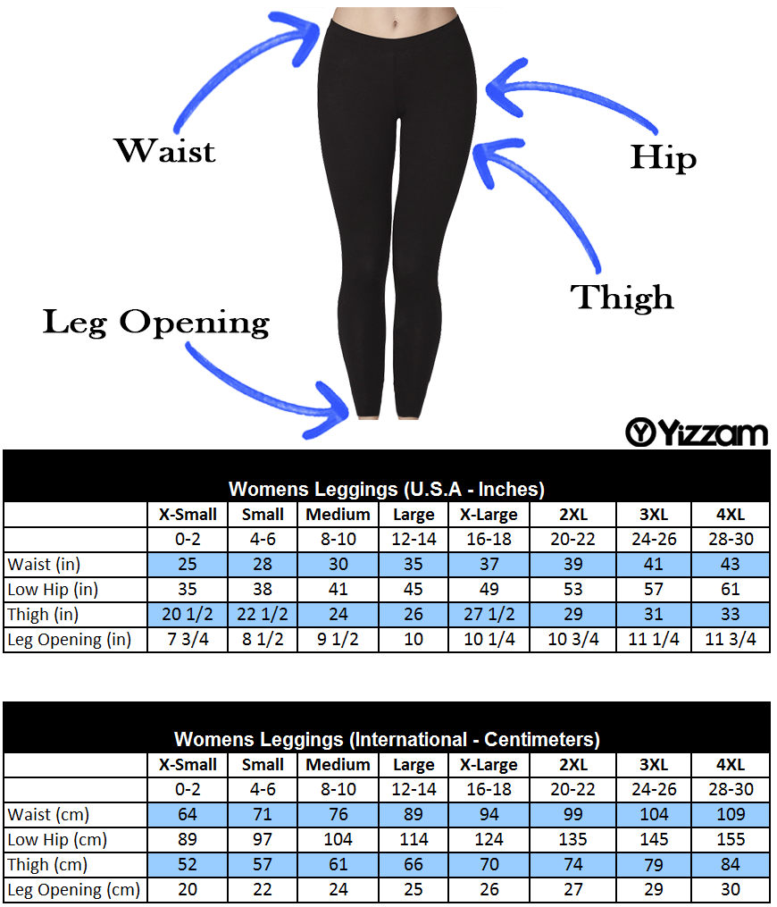 Image result for leggings size chart
