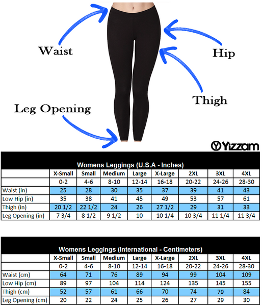 Image result for women's leggings size chart