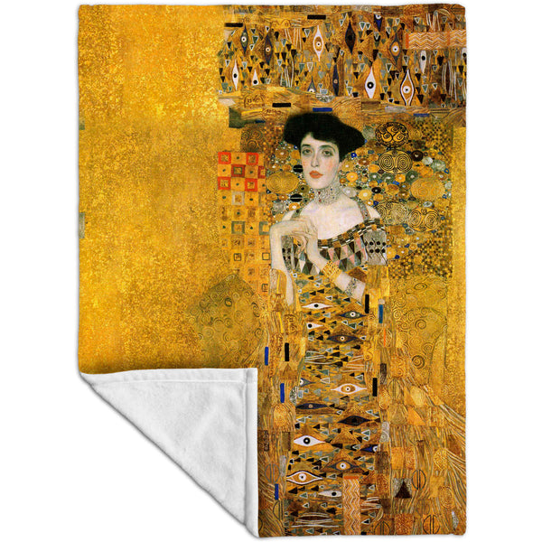 "Gustav Klimt - ""Portrait of Adele Bloch-bauer"" (1907) Fleece Blanket"